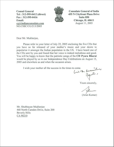 Justification Letter For Indian Visa Sle Letter To Consul General Invitations Ideas
