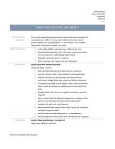 Sample Resume For Sales Associate resume template for sales associate