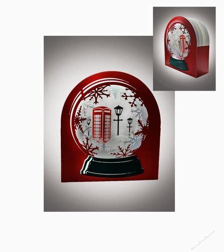 3d Snow Globe Card Template by 3d Snow Globe Classic Telephone Box Greetings Card