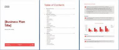 busniess plan template microsoft word and excel 10 business plan templates