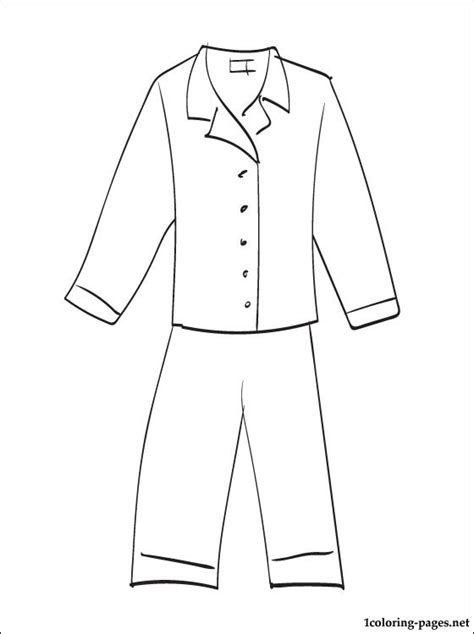 pajama template pyjamas coloring page coloring pages