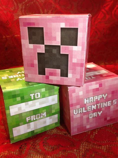 diy minecraft valentines diy minecraft creeper paper box valentines on etsy 10 00