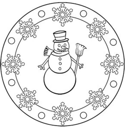snowman mandala coloring pages winter mandala coloring pages for kids crafts and