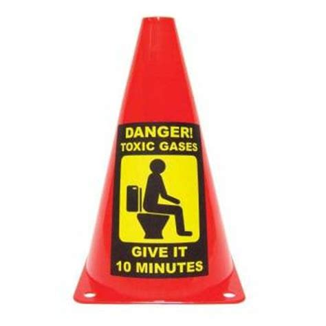 toilet caution cone novelty warning party traffic cone