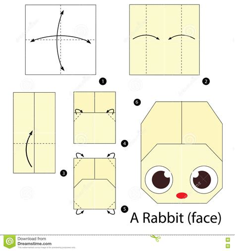 How To Make A Paper Bunny Step By Step - step by step how to make origami a rabbit