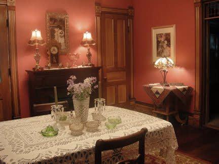 victorian farmhouse restoring  red dining room