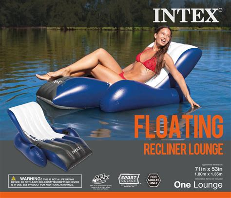 Intex Floating Recliner Lounge Intex Floating Lounge Pool Recliner Lounger Chair With Cup Holders Ebay