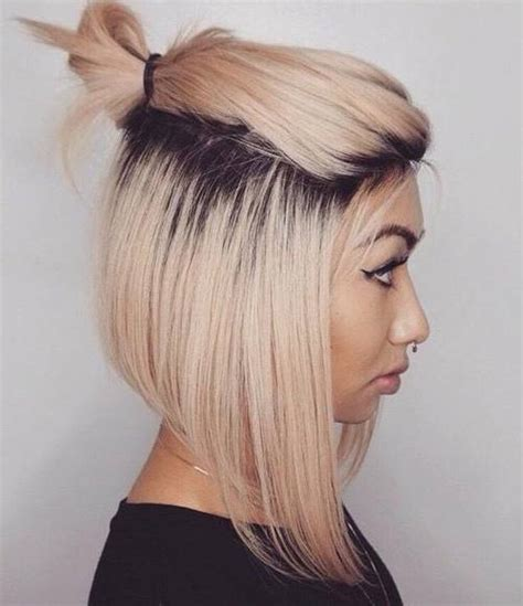 blonde bob updo 40 quick and easy short hair buns to try