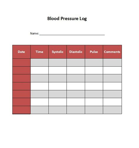 30 printable blood pressure log templates template lab