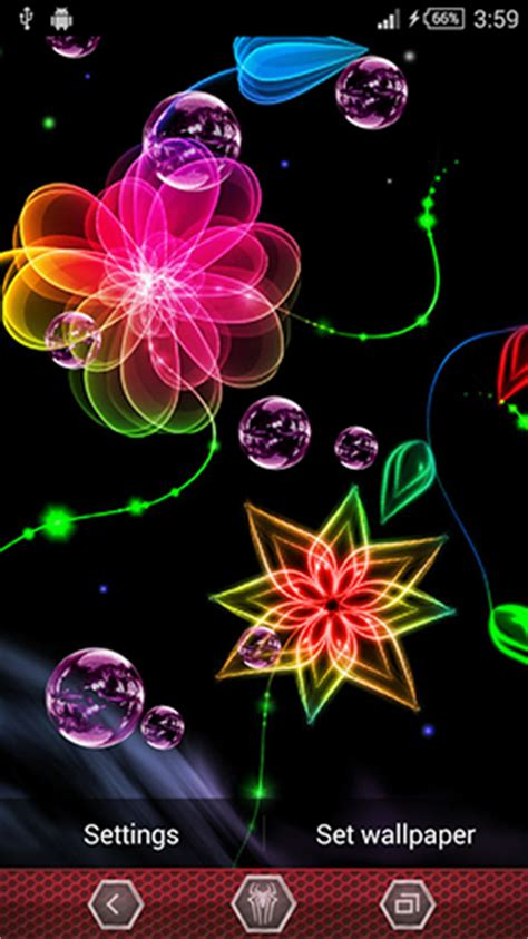 imagenes de rosas neon neon flowers by next live wallpapers para android baixar