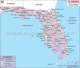 Road Map Of Florida by Florida Road Map Http Www Mapsofworld Com Pinterest