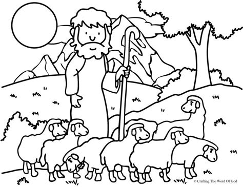 the good shepherd the lost sheep coloring page