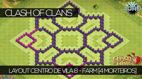 layout morcego cv 6 clash of clans layout centro de vila 8 farm 4 186