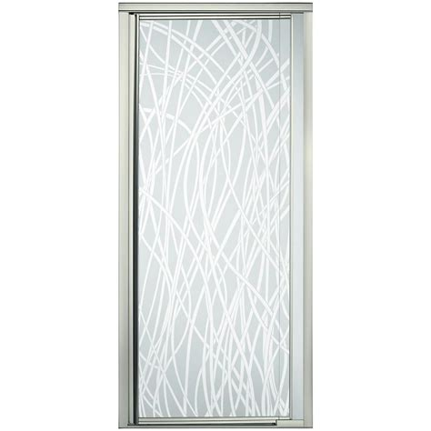 Framed Pivot Shower Door Sterling Vista Pivot Ii 36 In X 65 1 2 In Framed Pivot Shower Door In Nickel 1505d 36n G65