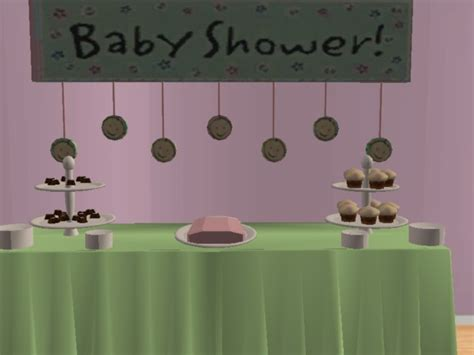 Sims 3 Baby Shower by Mod The Sims Baby Shower Mesh Set