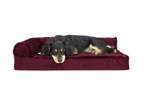 sofa style orthopedic pet bed plush velvet deluxe chaise lounge orthopedic sofa style