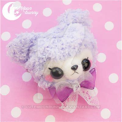 Sweet Bunny Hairclip crochet sweety brooch and hair clip by cutemoonbunny