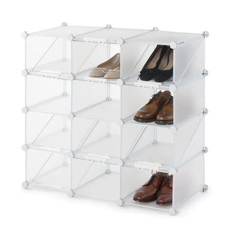 schuhe verstauen schuh organizer cubes schuhregal 12 f 228 cher erweiterbar