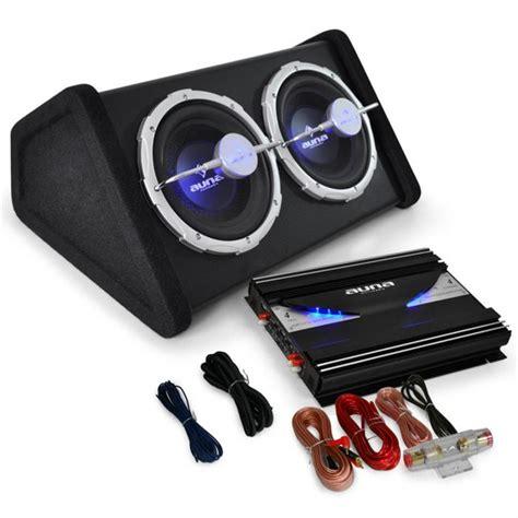car audio hifi system black   subwoofer amplifier  set