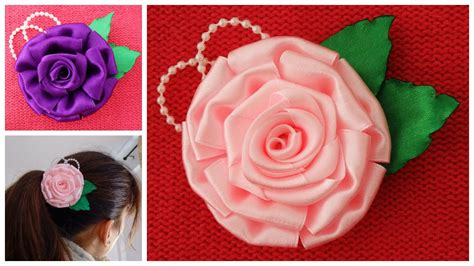 How To Make Handmade Flowers From Ribbon - image gallery handmade ribbon flowers