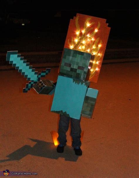 minecraft zombie  fire costume   tutorial