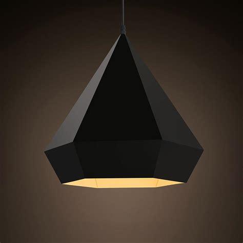 Black Diamond Minimalist Geometric Pendant Light Tudo Geometric Pendant Lights