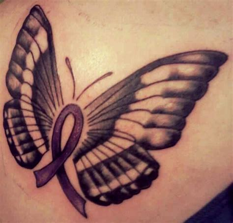 cancer ribbon butterfly tattoo designs 70 best cancer tattoos