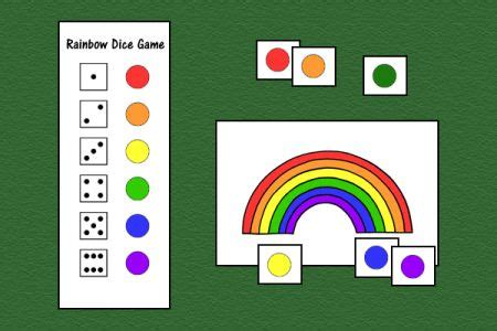 Gamis Rainbow speech therapy ideas rainbow dice versatile can