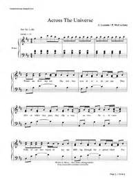 Across the Universe-The Beatles無料の楽譜「五線譜、両手略譜」をダウンロード!