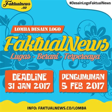 lomba desain grafis online 2016 lomba desain logo faktualnews 2017