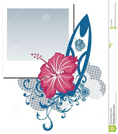 grunge flower frame royalty free stock image image 3187236 grunge polaroid photo frame with hibiscus flower stock vector illustration of tracery white