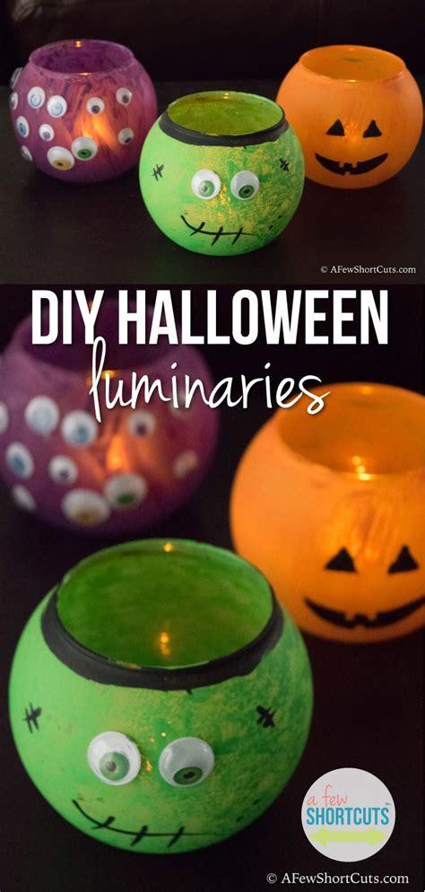 diy halloween luminaries fun halloween crafts diy