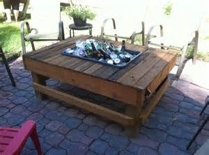 Patio Table With Cooler The Cooler Patio Table Diy Tables I Want To And Make It