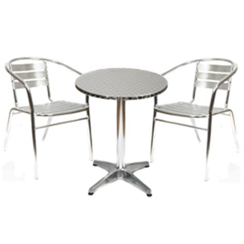 Aluminium Bistro Table And Chairs Aluminium Bistro Set 60cm Dia Table And 2 Review Compare Prices Buy