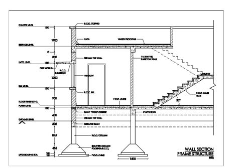 section structure wall section frame structure