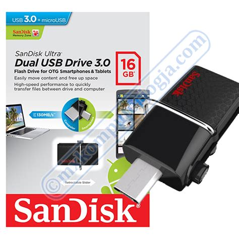 Flashdisk Sandisk Otg 16gb Up To 130 Mb S Usb 3 0 jual sandisk flashdisk 130mb s ultra dual drive usb 3 0 16gb usb otg we computer