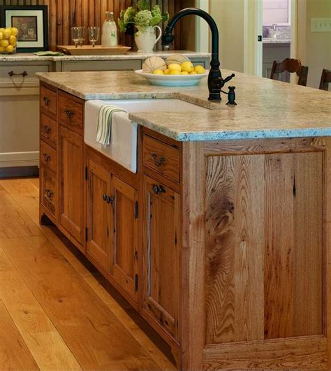 Substantial Wood Kitchen Island With Apron Sink Single | substantial wood kitchen island with apron sink single