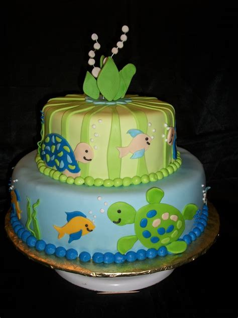 Turtle Themed Baby Shower Decorations by Sea Turtle Baby Shower Cake I Made Everything Is Made Out
