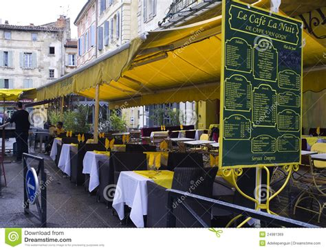Terrace Awning Vincent Van Gogh Cafe Arles France Editorial Stock Image