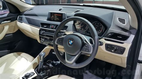 Bmw X1 Beige Interior by 2016 Bmw X1 Interior At The Auto Expo 2016 Indian Autos