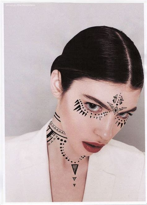 makeup tattoos designs tribal makeup inspiration makeup