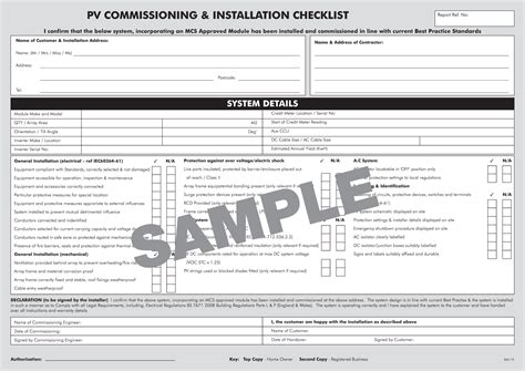 Hvac Installation Checklist Bing Images Commissioning Report Template