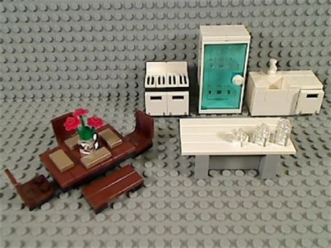lego kitchen island lego kitchen refrigerator sink dishwasher stove island dining table chairs bench ebay
