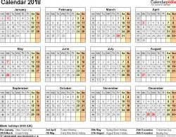 excel calendar 2018 (uk): 16 printable templates (xlsx, free)