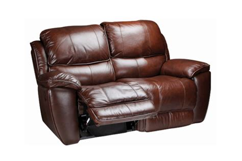 recliners loveseats crosby leather reclining loveseat at gardner white