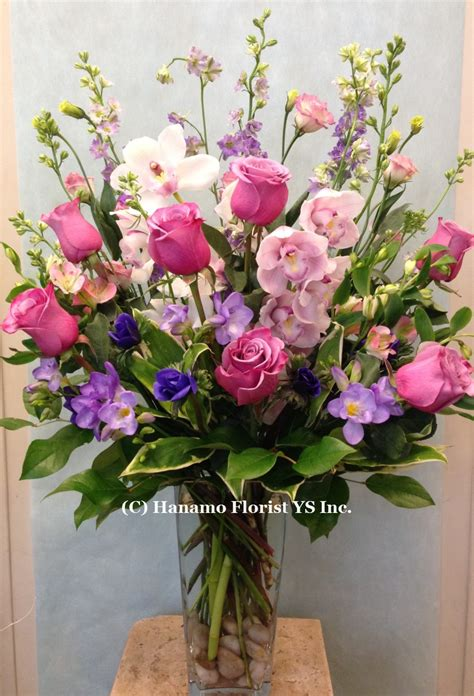 Flower Arrangements With Vases by Vase Arrangement Hanamo Florist Store Vancouver