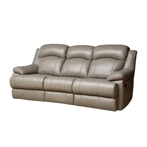 Abbyson living warwick leather reclining sofa in gray cx 6118 gry 3