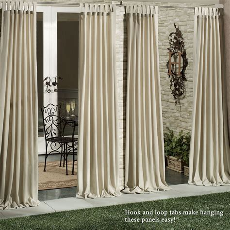 outdoor drape matine indoor outdoor tab top curtain panels