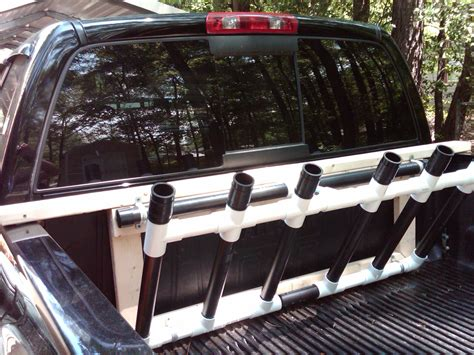 homemade boat bed home made rod holders for back of truck page 2 the