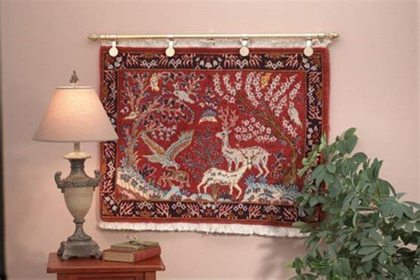 how to hang a heavy rug on the wall rug hangers and rods gonsenhauser s rug and carpet superstore